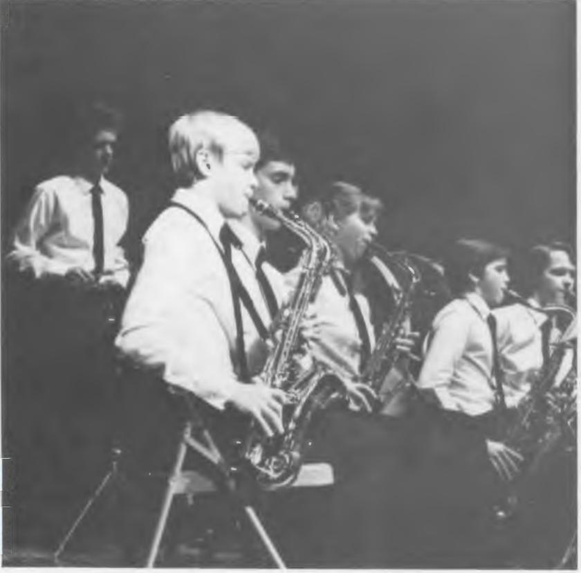 Doug Schrad Plays the sax at Assumption