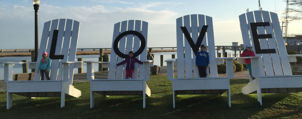 Love Chairs in Chincoteague