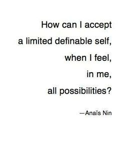 anais nin quote self