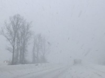White out snow storm lake effect